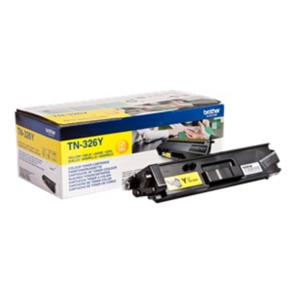 Original Brother TN326Y Toner gelb