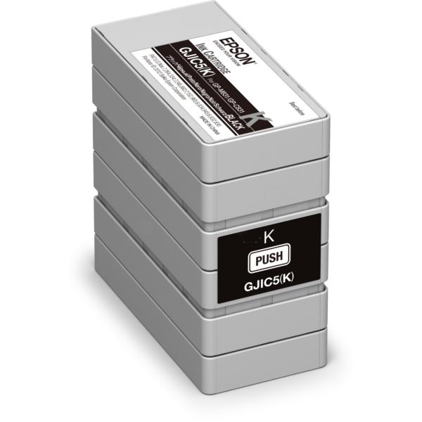 Original Epson C13S020563 / GJIC5(K) Tintenpatrone schwarz