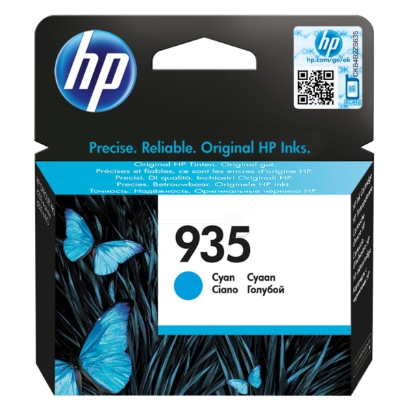 Original HP C2P20AE#301 / 935 Cartouche d'encre cyan