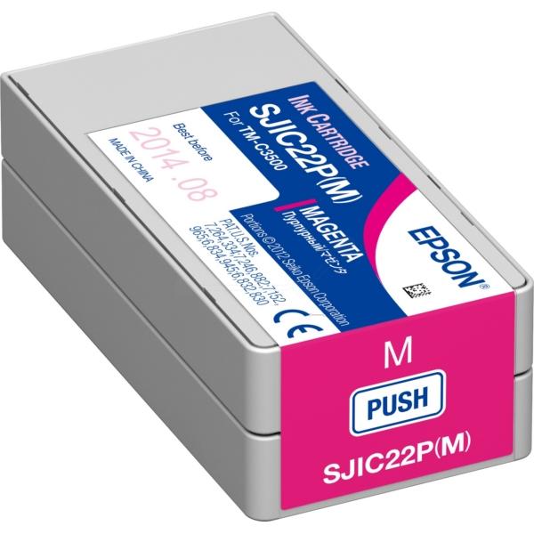 Original Epson C33S020603 / SJIC22P(M) Tintenpatrone magenta
