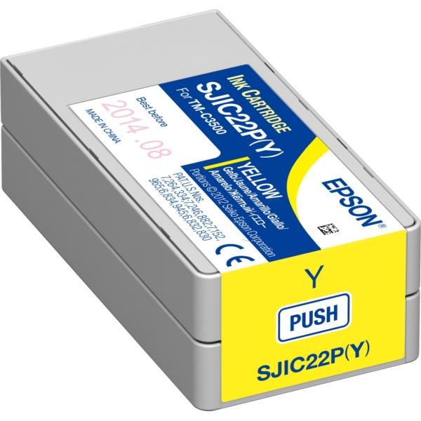 Original Epson C33S020604 / SJIC22P(Y) Tintenpatrone gelb