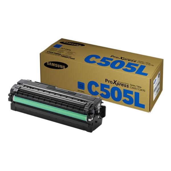 Original Samsung CLTC505LELS / C505L Toner cyan
