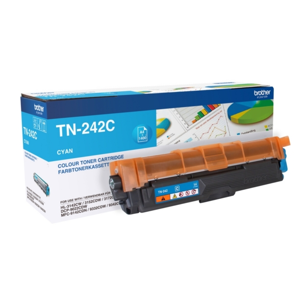 Original Brother TN242C Toner cyan
