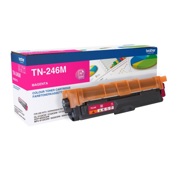Original Brother TN246M Toner magenta