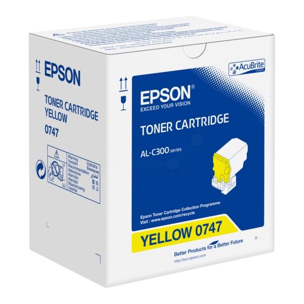 Original Epson C13S050747 / 0747 Toner gelb