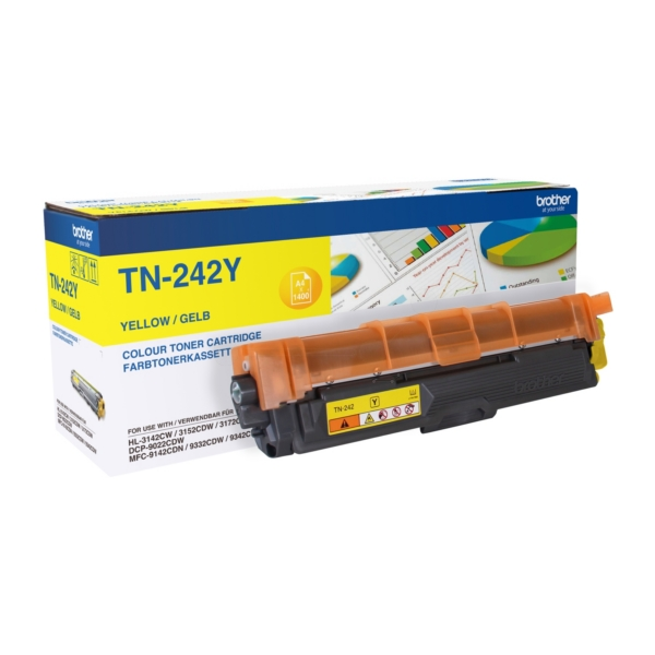 Original Brother TN242Y Toner gelb