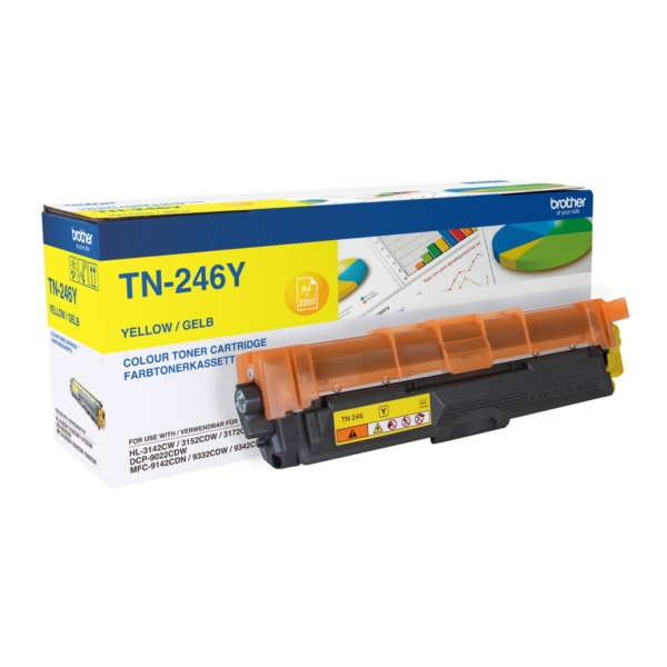 Original Brother TN246Y Toner gelb
