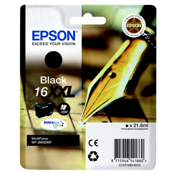 Original Epson C13T16814010 / 16XXL Tintenpatrone schwarz