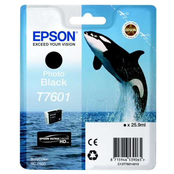 Original Epson C13T76014010 / T7601 Tintenpatrone schwarz hell