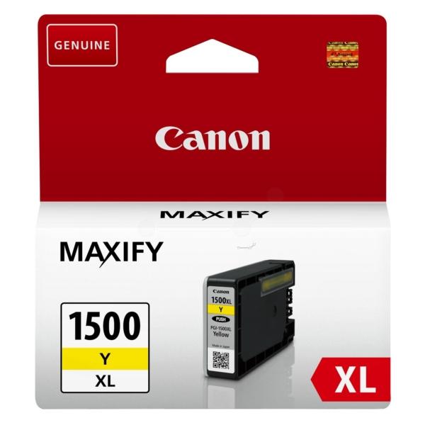 Original Canon 9195B001 / PGI1500XLY Tintenpatrone gelb