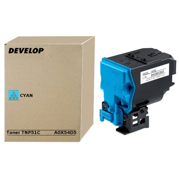 Original Develop A0X54D5 / TNP51C Toner cyan