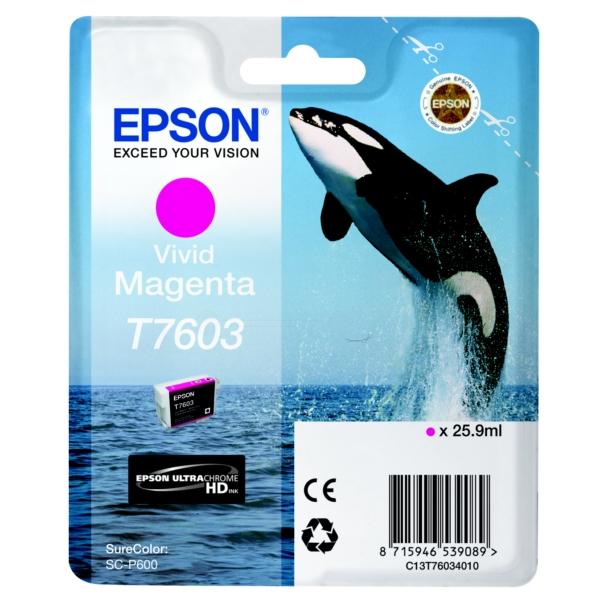 Original Epson C13T76034010 / T7603 Tintenpatrone magenta