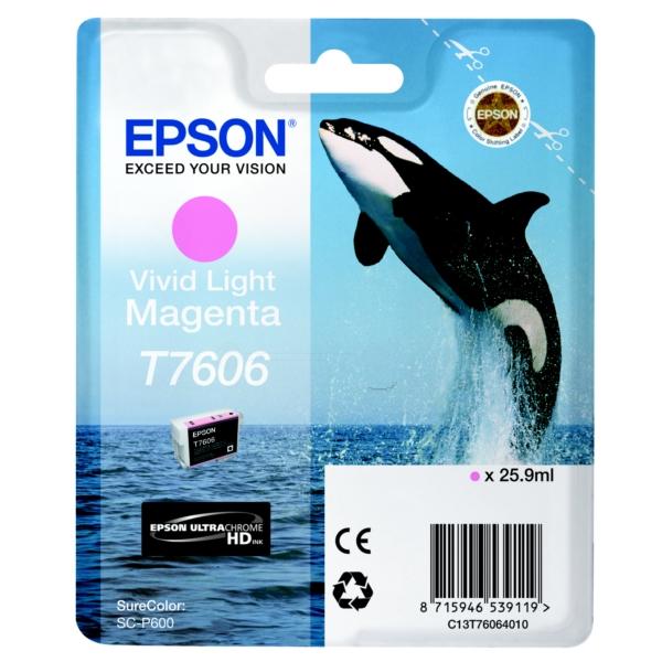 Original Epson C13T76064010 / T7606 Tintenpatrone magenta hell