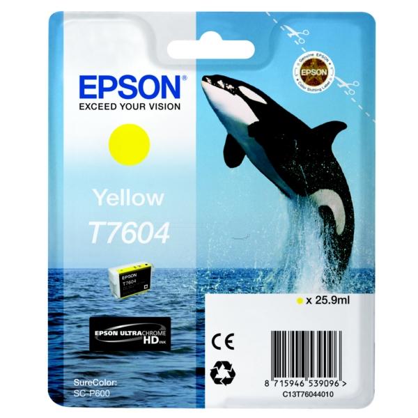 Original Epson C13T76044010 / T7604 Tintenpatrone gelb