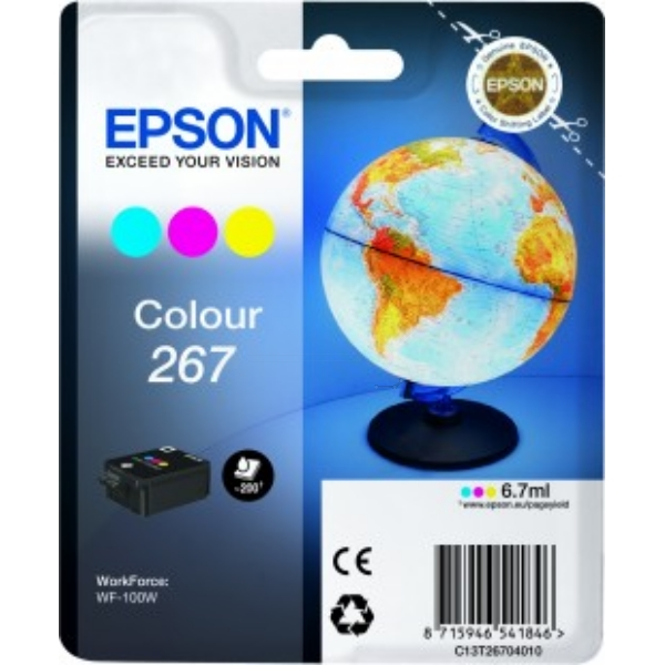 Original Epson C13T26704010 / 267 Tintenpatrone color