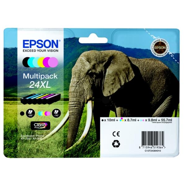 Original Epson C13T24384020 / 24XL Tintenpatrone MultiPack