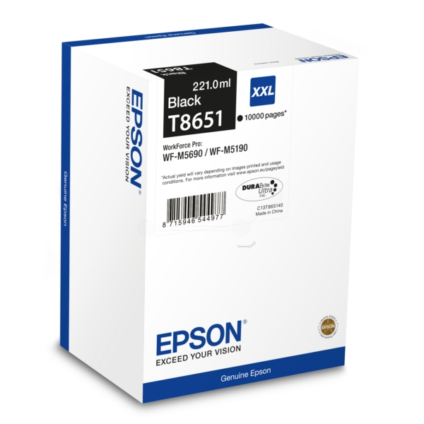 Original Epson C13T865140 / T8651 Tintenpatrone schwarz