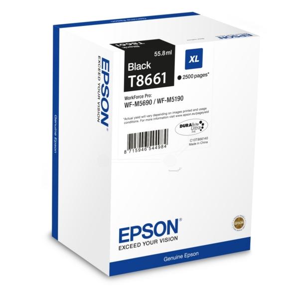 Original Epson C13T866140 / T8661 Tintenpatrone schwarz