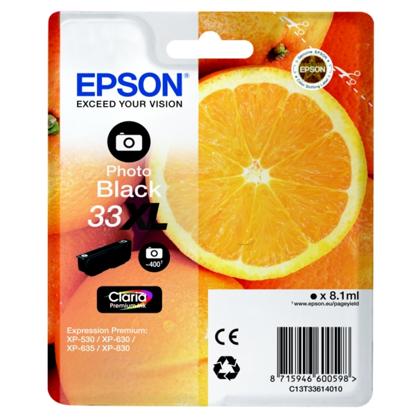 Original Epson C13T33614010 / 33XL Ink cartridge bright black