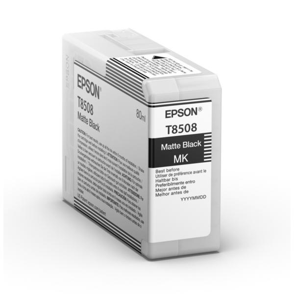 Original Epson C13T850800 / T8508 Tintenpatrone schwarz matt
