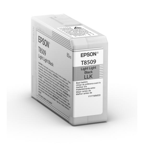 Original Epson C13T850900 / T8509 Tintenpatrone schwarz hell hell