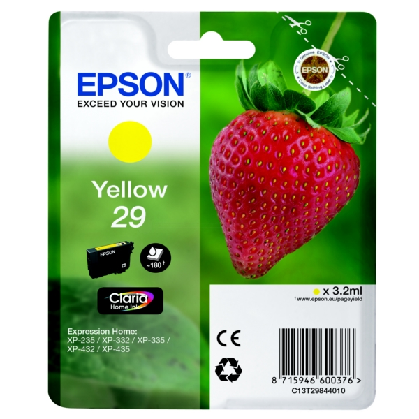 Original Epson C13T29844010 / 29 Tintenpatrone gelb
