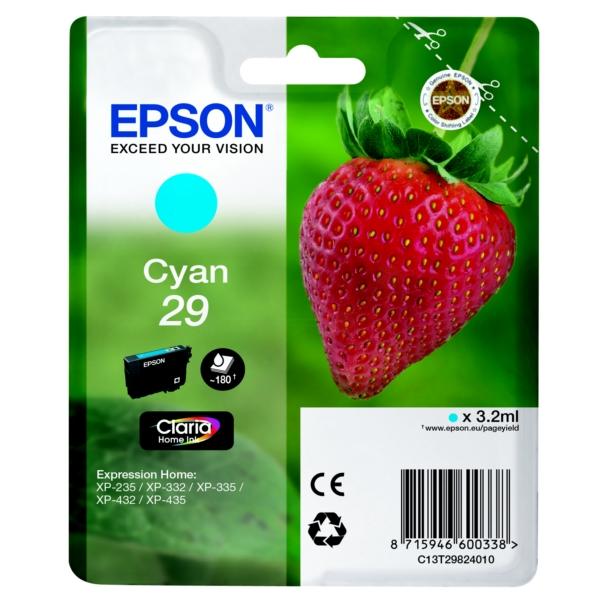 Original Epson C13T29824010 / 29 Tintenpatrone cyan