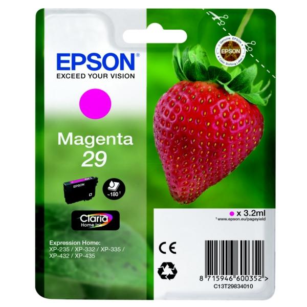Original Epson C13T29834010 / 29 Tintenpatrone magenta