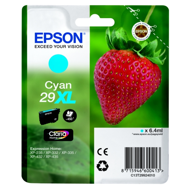 Original Epson C13T29924010 / 29XL Tintenpatrone cyan