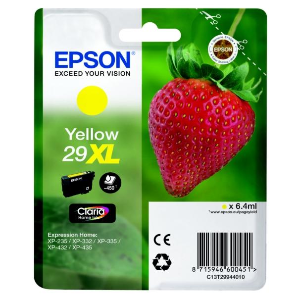 Original Epson C13T29944010 / 29XL Tintenpatrone gelb