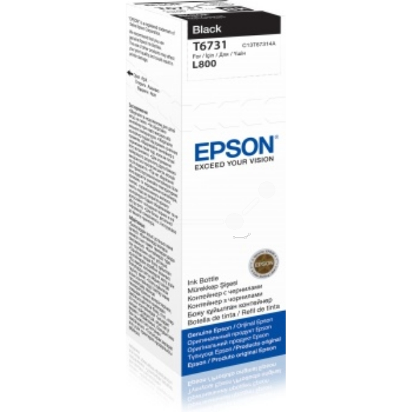 Original Epson C13T67314A / T6731 Tintenpatrone schwarz