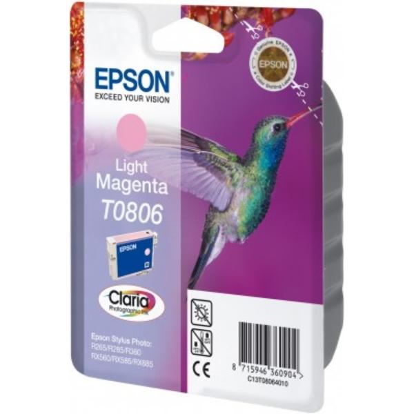 Original Epson C13T08064010 / T0806 Tintenpatrone magenta hell