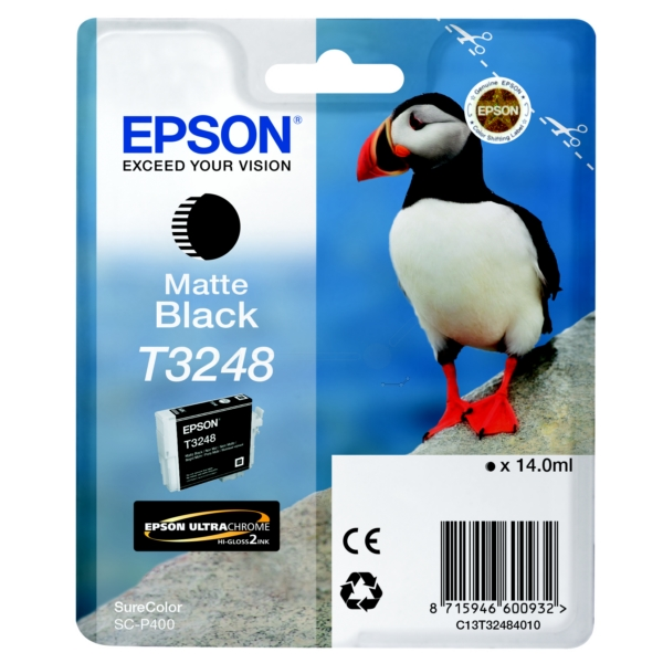 Original Epson C13T32484010 / T3248 Tintenpatrone schwarz matt