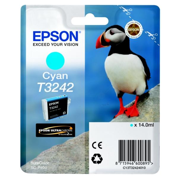 Original Epson C13T32424010 / T3242 Tintenpatrone cyan