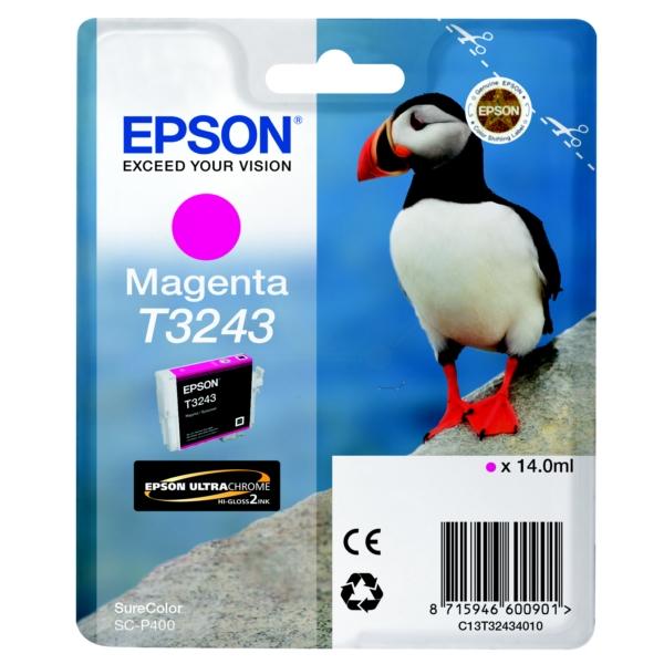 Original Epson C13T32434010 / T3243 Tintenpatrone magenta