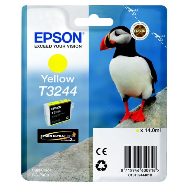 Original Epson C13T32444010 / T3244 Tintenpatrone gelb