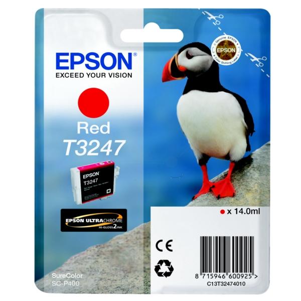 Original Epson C13T32474010 / T3247 Tintenpatrone rot
