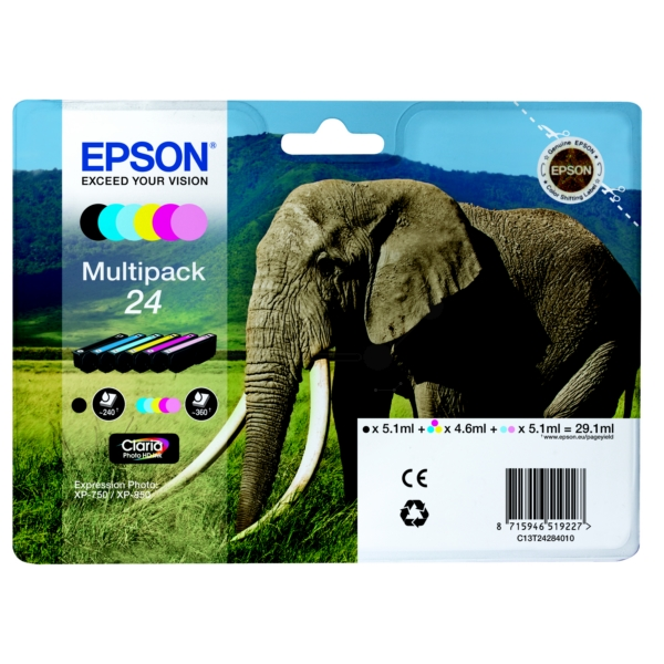 Original Epson C13T24284510 / 24 Tintenpatrone MultiPack