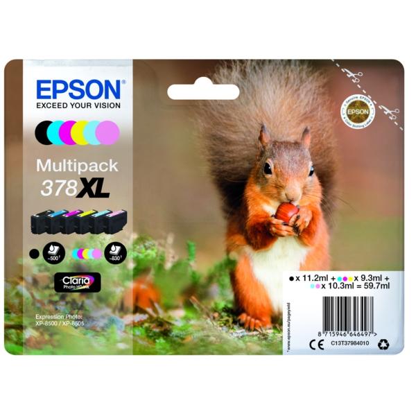 Original Epson C13T37984010 / 378XL Tintenpatrone MultiPack