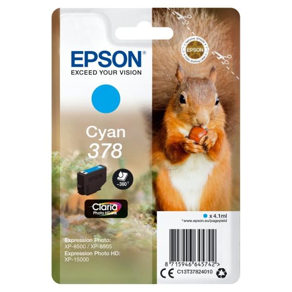 Original Epson C13T37824020 / 378 Tintenpatrone cyan