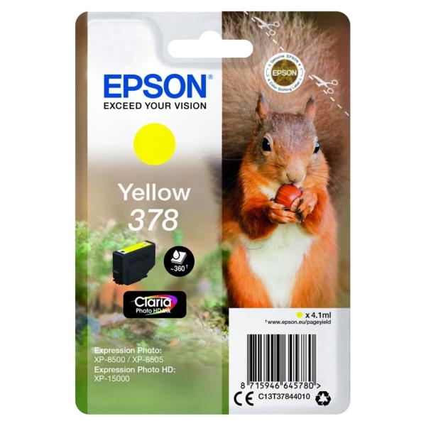 Original Epson C13T37844010 / 378 Tintenpatrone gelb