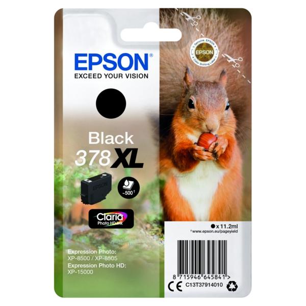 Original Epson C13T37914020 / 378XL Tintenpatrone schwarz