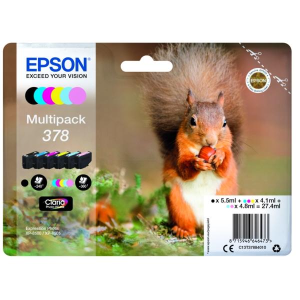 Original Epson C13T37884010 / 378 Tintenpatrone MultiPack