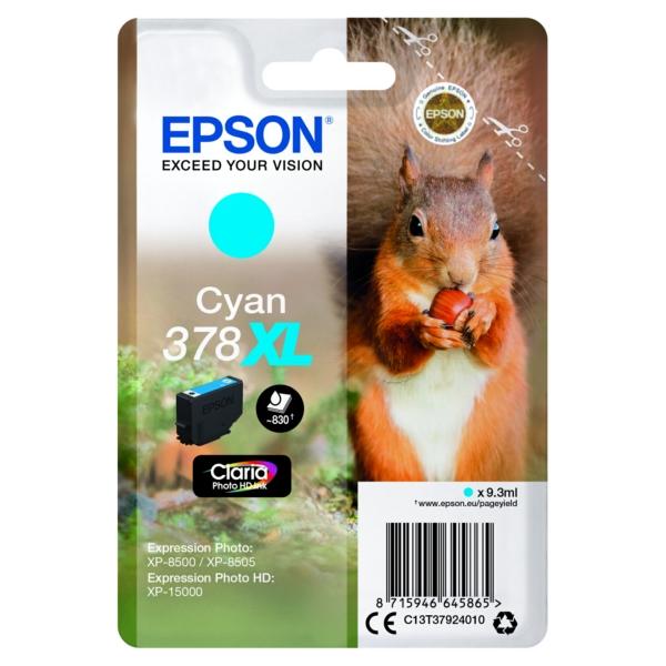 Original Epson C13T37924010 / 378XL Tintenpatrone cyan