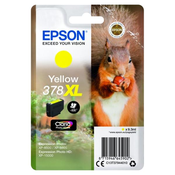 Original Epson C13T37944010 / 378XL Tintenpatrone gelb