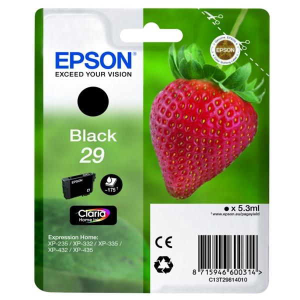 Original Epson C13T29814022 / 29 Tintenpatrone schwarz