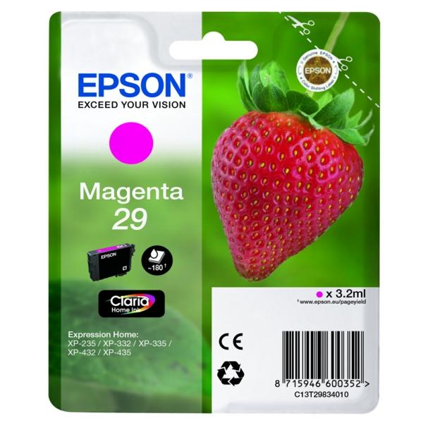 Original Epson C13T29834022 / 29 Tintenpatrone magenta