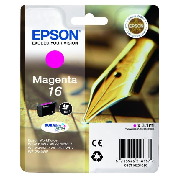 Original Epson C13T16234012 / 16 Tintenpatrone magenta