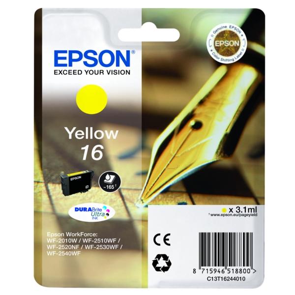 Original Epson C13T16244012 / 16 Tintenpatrone gelb