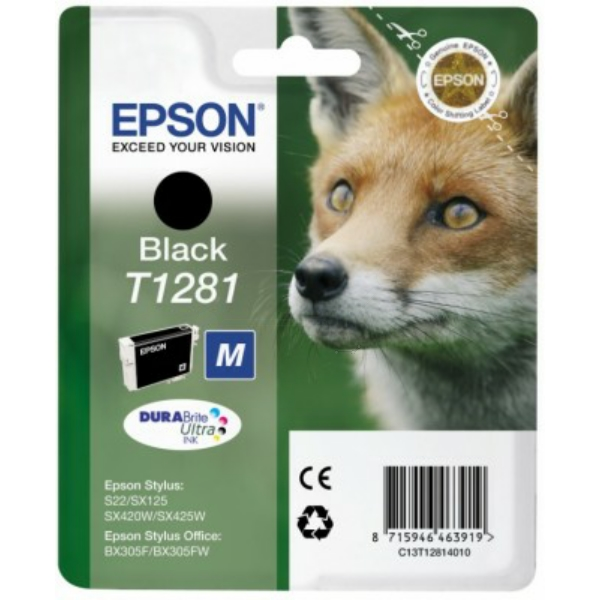 Original Epson C13T12814022 / T1281 Ink cartridge black